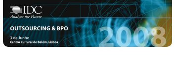 OutsOurcing & BPO - IDC Portugal