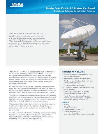 Model VA-91-KA 9.1 Meter Ka-Band - ViaSat