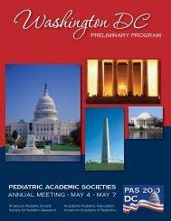 PAS meeting program guide - Pediatric Academic Societies