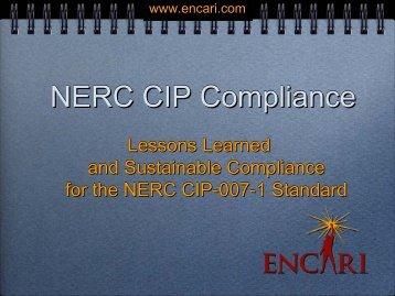 NERC CIP Compliance - SERC Home Page