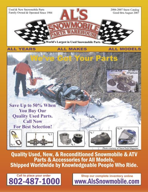 snow0607 catalog.indd - Al's Snowmobile Parts Warehouse on