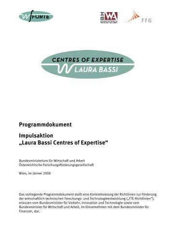 "Programmdokument Impulsaktion ""Laura Bassi Centres ... - w-fFORTE"
