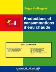 Productions et consommations d'eau chaude