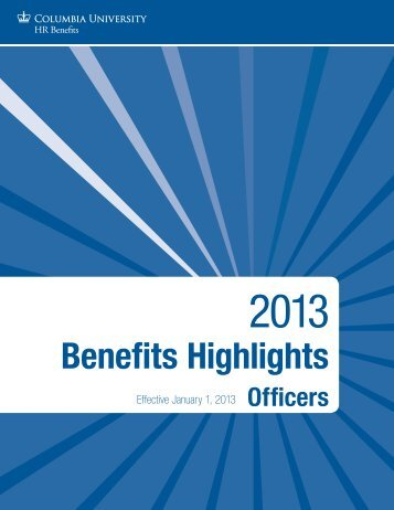 Benefits Highlights - Human Resources - Columbia University