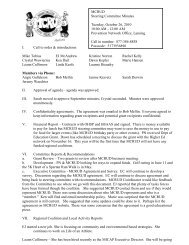 MCRUD Steering Committee Agenda - Michigan Coalition to ...