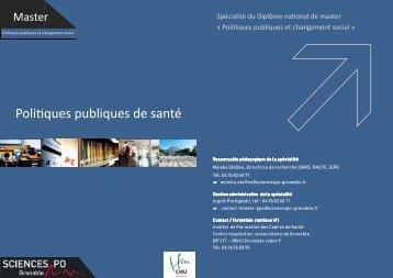 Poli ques publiques de santé - Sciences Po Grenoble