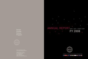 Annual Report Fiscal Year 2008/2009 - Human Frontier Science ...