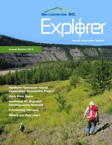 Explorer Magazine 2012 - Geoscience BC