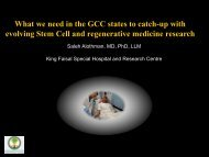 What we need in the GCC states to catch-up with evolving Stem Cell ...
