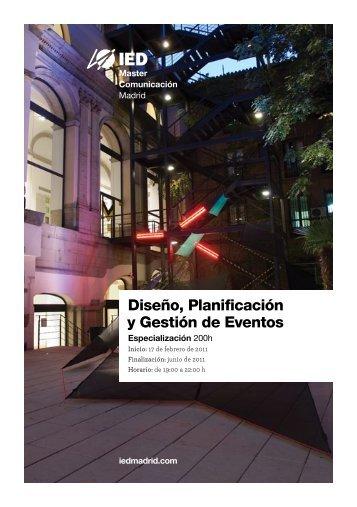 Diseño, Planificación y Gestión de Eventos - IED Madrid