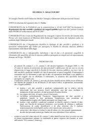 Regolamento Privacy e Codice Privacy - OMCeO Sassari