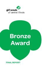 Bronze Award Final Report - Girl Scouts of Central Illinois