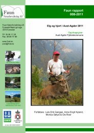 Faun rapport 008-2011 - Aust-Agder fylkeskommune