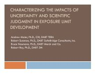 characterizing the impacts of uncertainty and scientific ... - Tera
