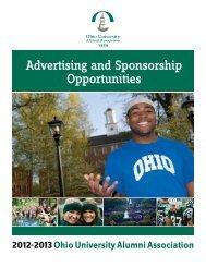 Advertising and Sponsorship Opportunities - Ohio University Alumni ...