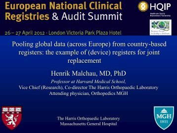 Pooling data accross Europe from country-based registers - HQIP