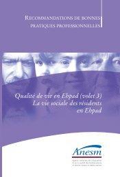 Qualité de vie en Ehpad (volet 3) La vie sociale des ... - Capgeris