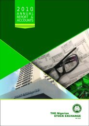 STOCK EXCHANGE REPORT INNER 2010.cdr2.cdr - The Nigerian ...