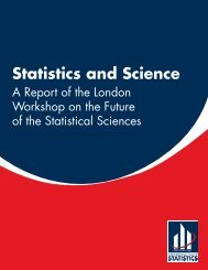 Statistics&Science-TheLondonWorkshopReport