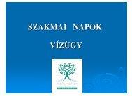 SZAKMAI NAPOK VÍZÜGY - Országos Környezetvédelmi ...
