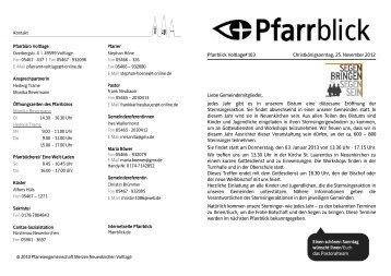 Pfarrblick Voltlage#103 Christkönigsonntag, 25. November 2012 ...