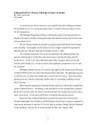 Letter from Terri Lynn Land