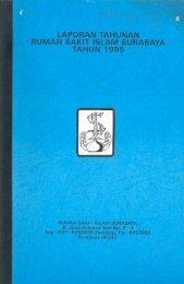 laporan tahunan rumah sakit islam surabaya tahun 1995