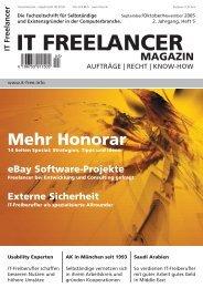 IT Freelancer Magazin Nr. 5/2005