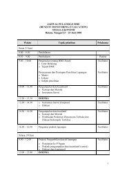 1 JADWAL PELATIHAN BME (BENEFIT MONITORING ... - coremap