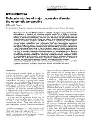 Molecular studies of major depressive disorder - Complex Disease ...