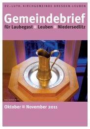 Gemeindebrief Oktober / November 2011 - Ev.