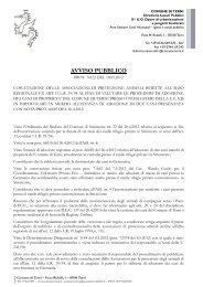 AVVISO PUBBLICO - Comune di Terni