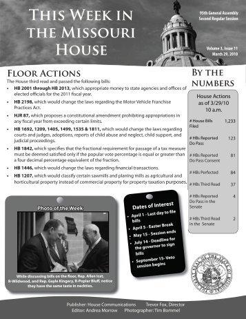 March 29, 2010 - Missouri House of Representatives