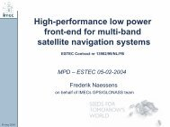 High-performance low power front-end for multi ... - Microelectronics