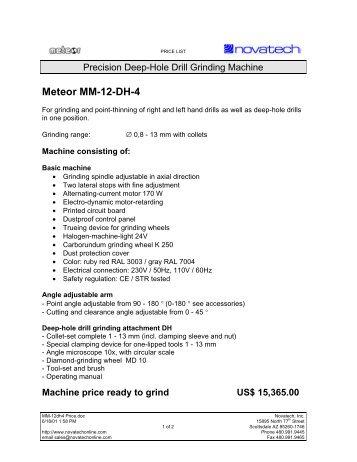 Meteor MM12-DH4 - Novatech Inc.