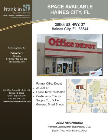 Former Office Depot - Haines City - Franklin Street Financial