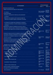 programación académica del semestre impar - par 2012