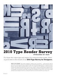 to download the 2010 type reader survey - Graphic Design USA