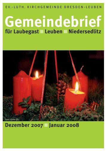 Gemeindebrief Dezember 2007/Januar 2008 - Ev.