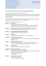 Training: Advanced Trainings for eCTDmanager & EURS - Extedo