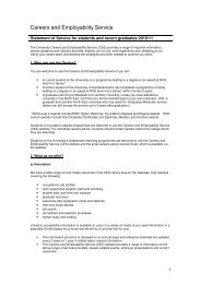 Careers and Employability Service - Student and Learning Support