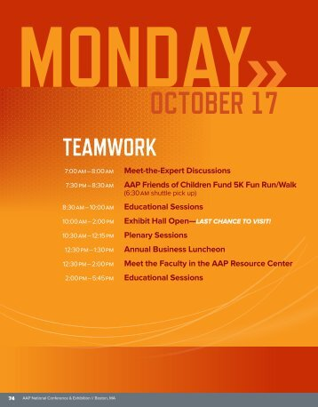 AAP 2011 Conference Monday, October 17 Program Schedule