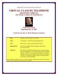 virtual class by telephone - Tibetan Language Institute Website