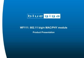 WF111: 802.11 b/g/n MAC/PHY module