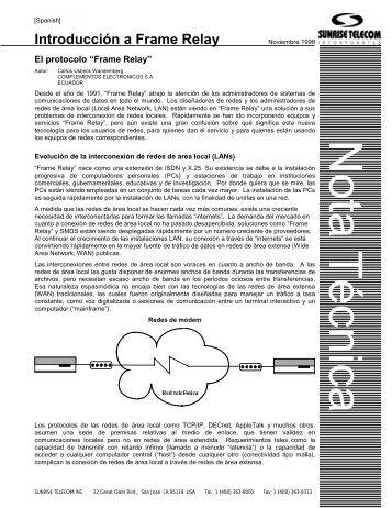 Introducción a Frame Relay - Ladyada.usach.cl