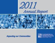 2011 Annual Report - Farmers & Merchants State Bank