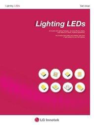 Lighting LEDs - Welt Electronic