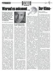 Der Klimaschutz macht Schule (AutorIn: Mag. a Andrea Gössiner ...
