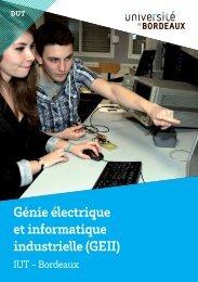 DUT Génie Électrique et Informatique Industrielle - IUT Bordeaux 1...