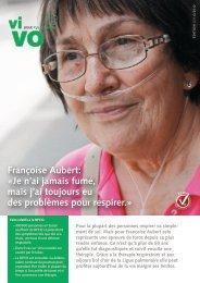 Françoise Aubert: «Je n'ai jamais fumé, mais j'ai ... - Ligue pulmonaire